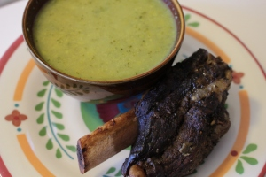 Curry Broccoli Soup, Korean Short Ribs Breakfast January 24th 2014